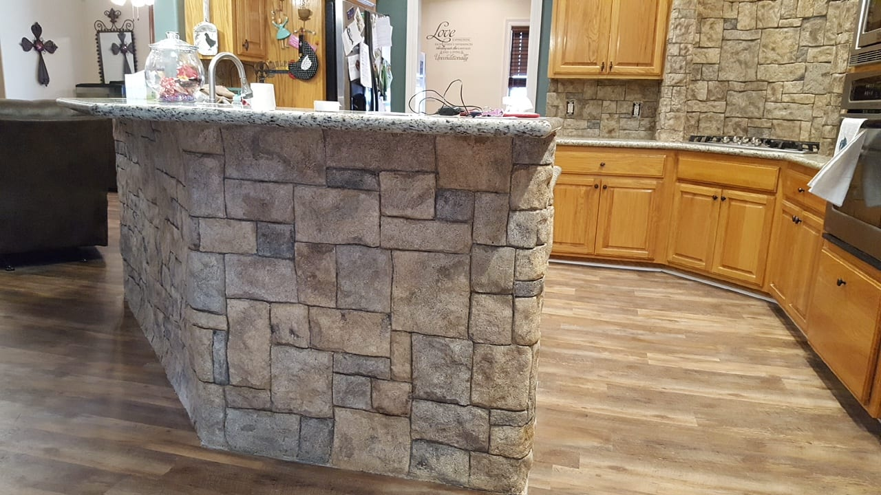 kitchen island stone resurface