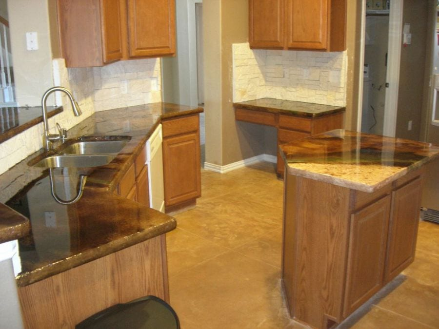 remodeled countertops shiny