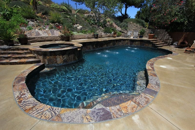 large slabs with pool side accent work pool resurfacing