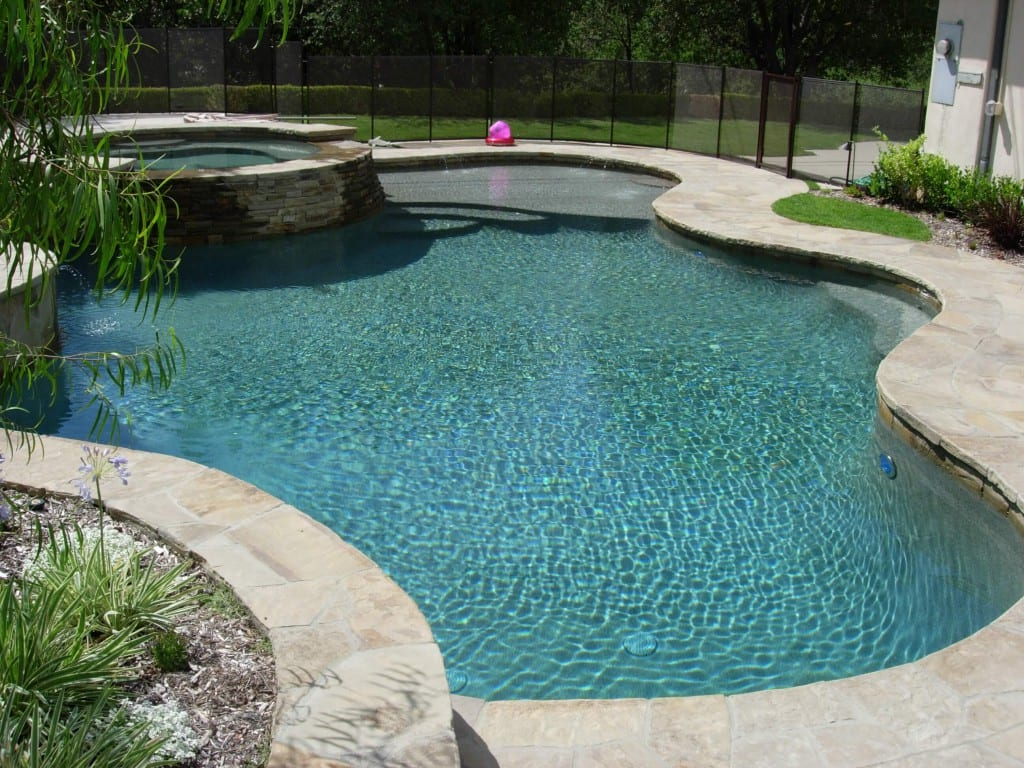 stone around pool resurfacing