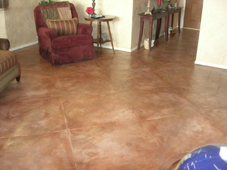 red brown square floor