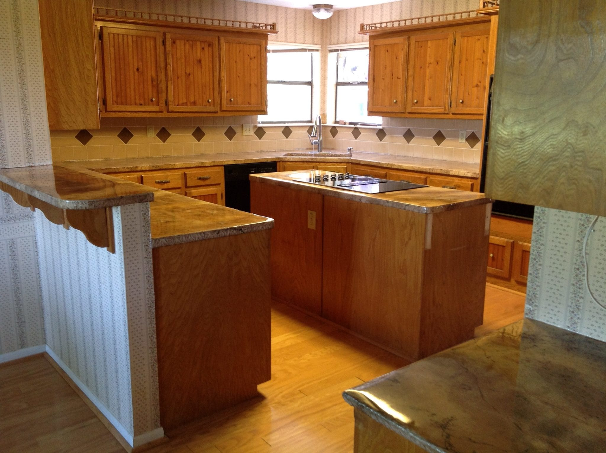 remodeled counter tops