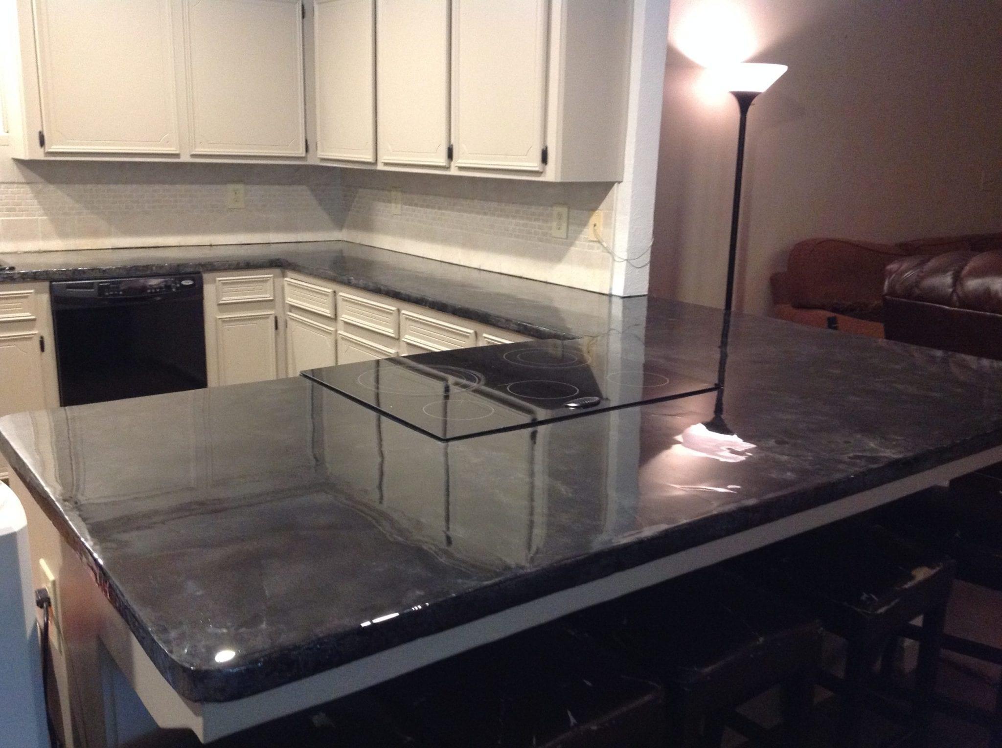 Grey counters - tile backsplash 2
