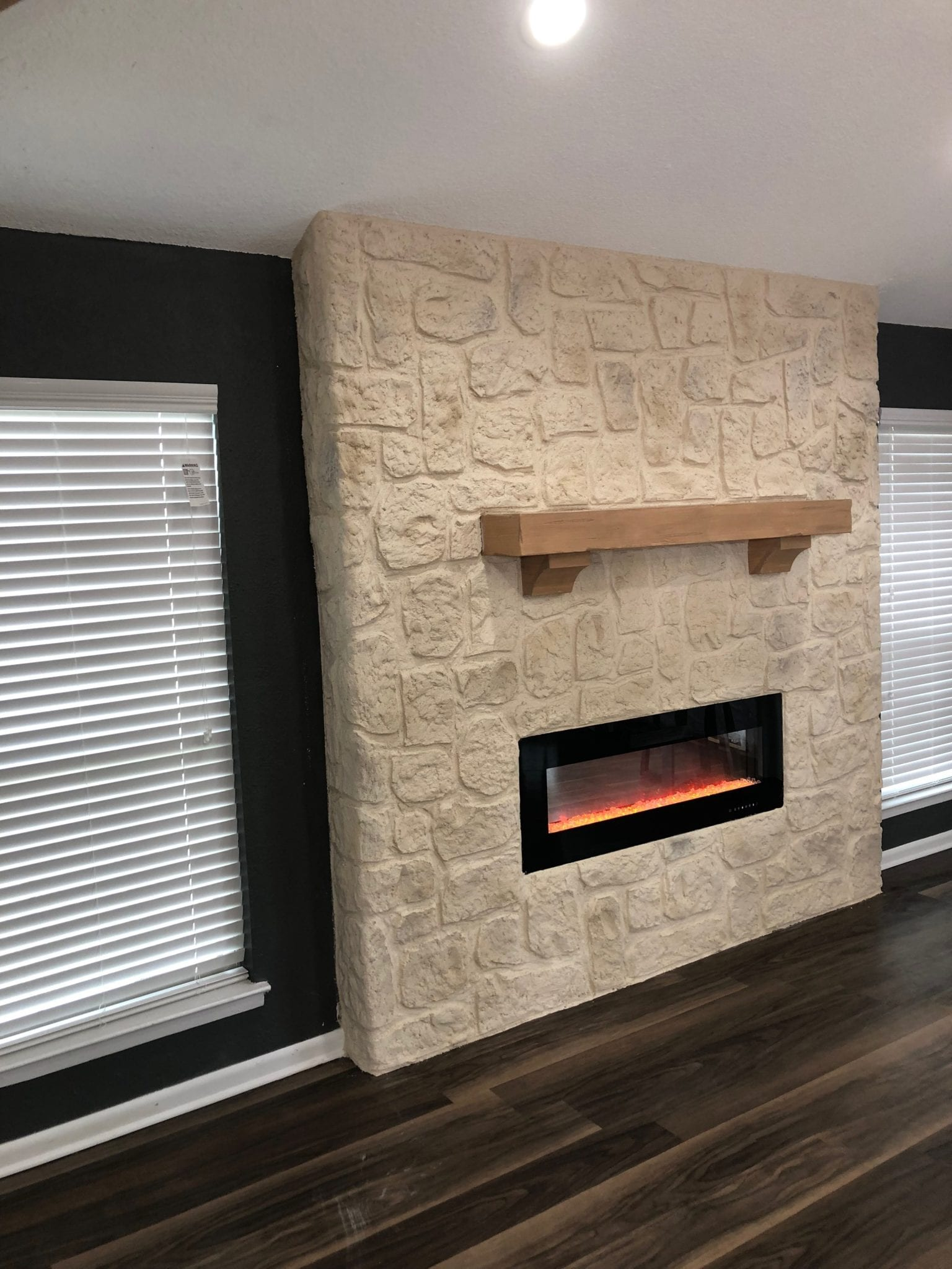 resurfaced fireplace
