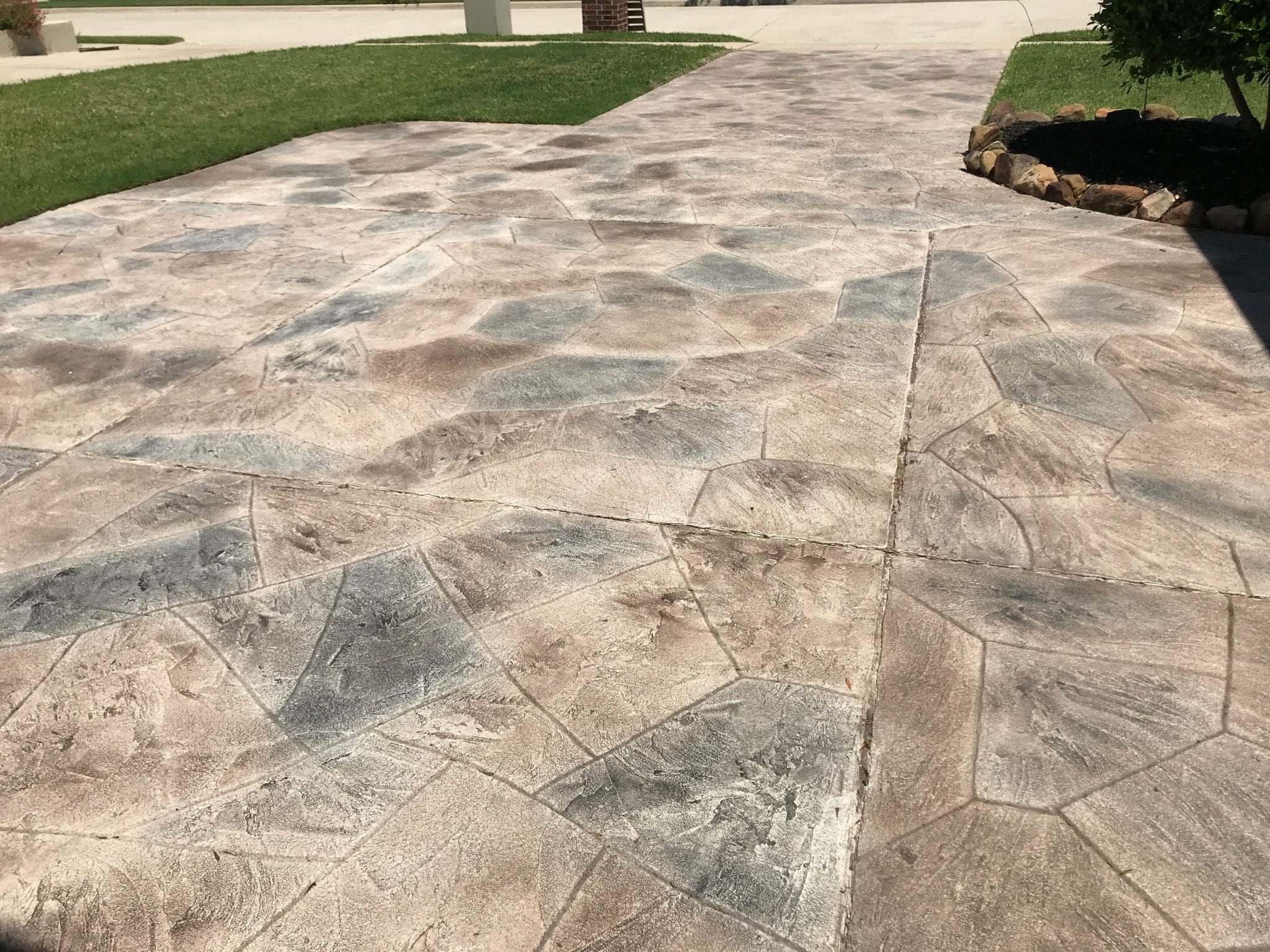 outdoor stone walk way
