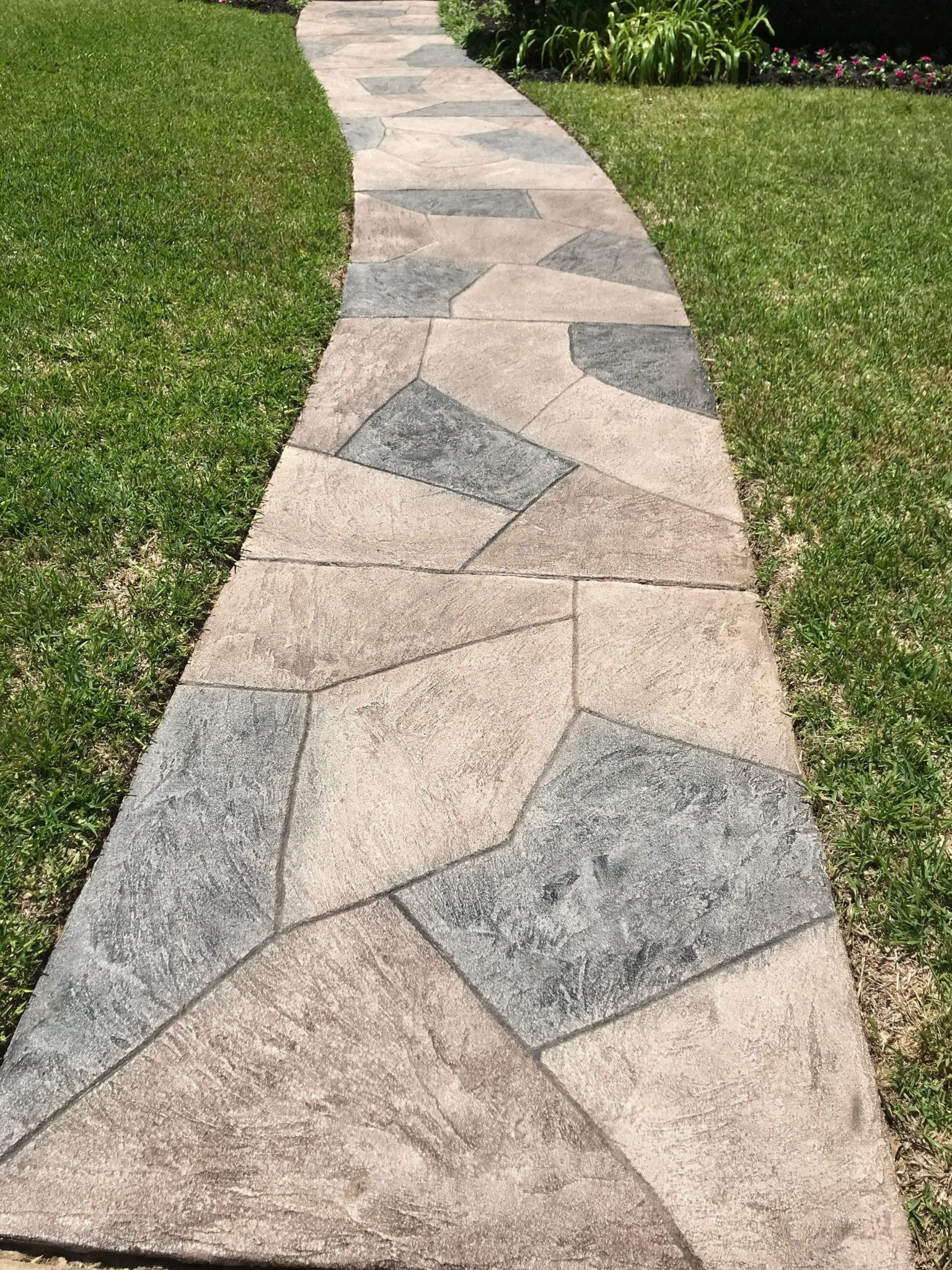 narrow outdoor stone walk way