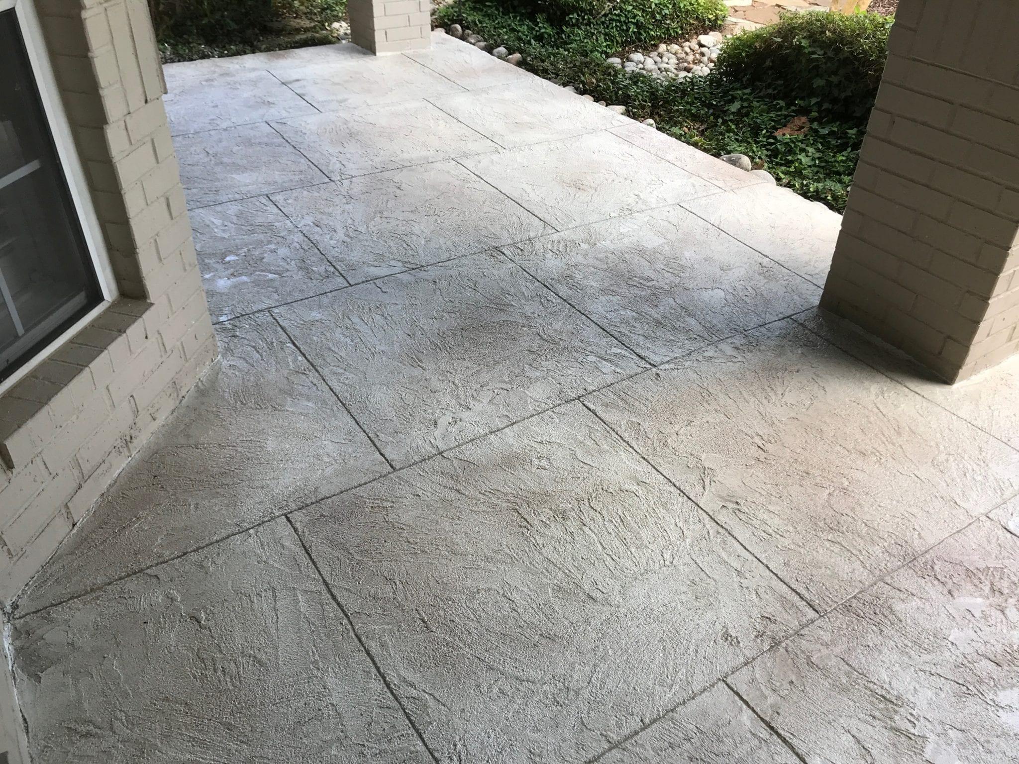 grey stone squares flooring