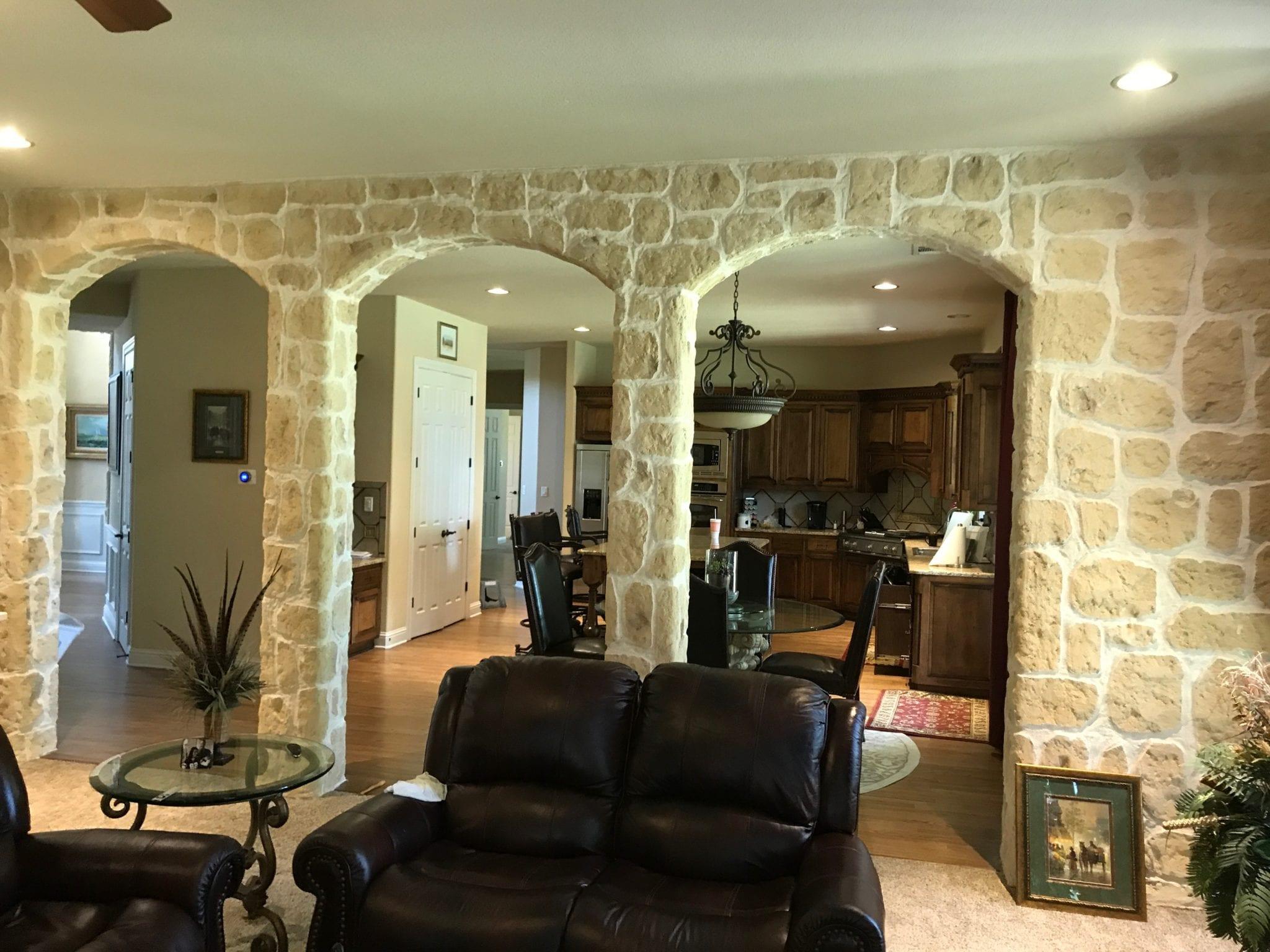 interior columns resurfaced