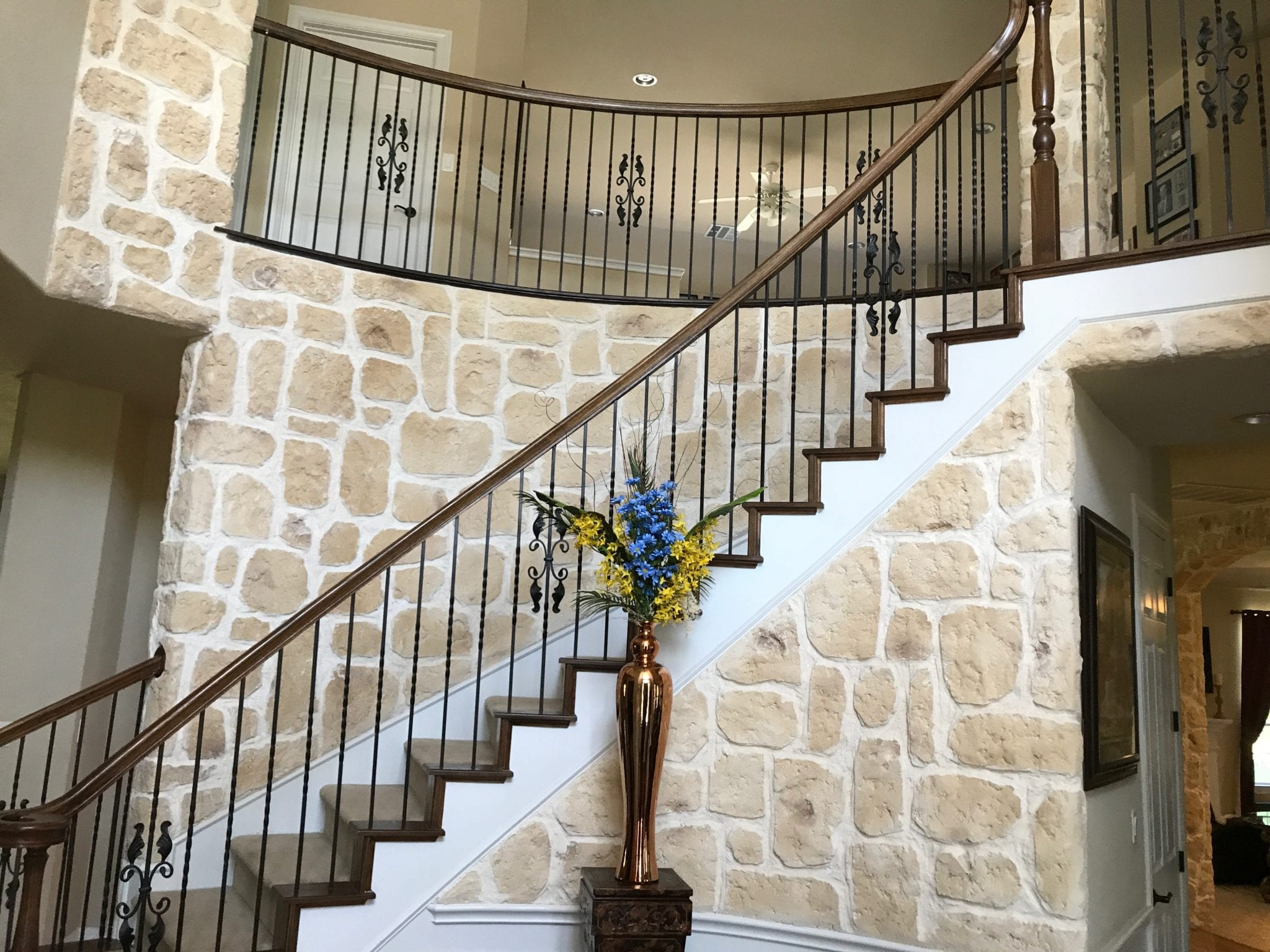 prosper stairs remodeled limestone