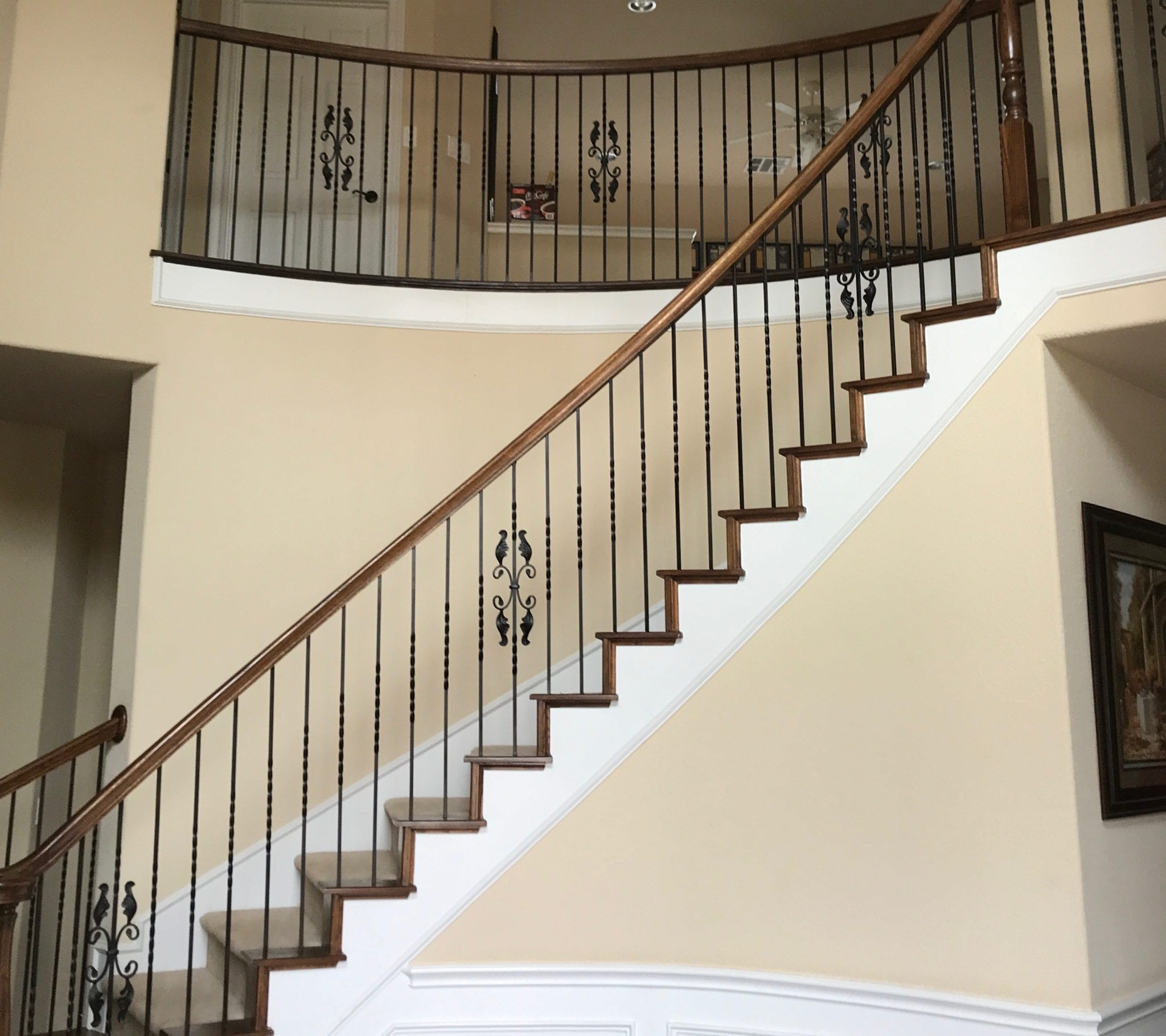 Prosper stairs before