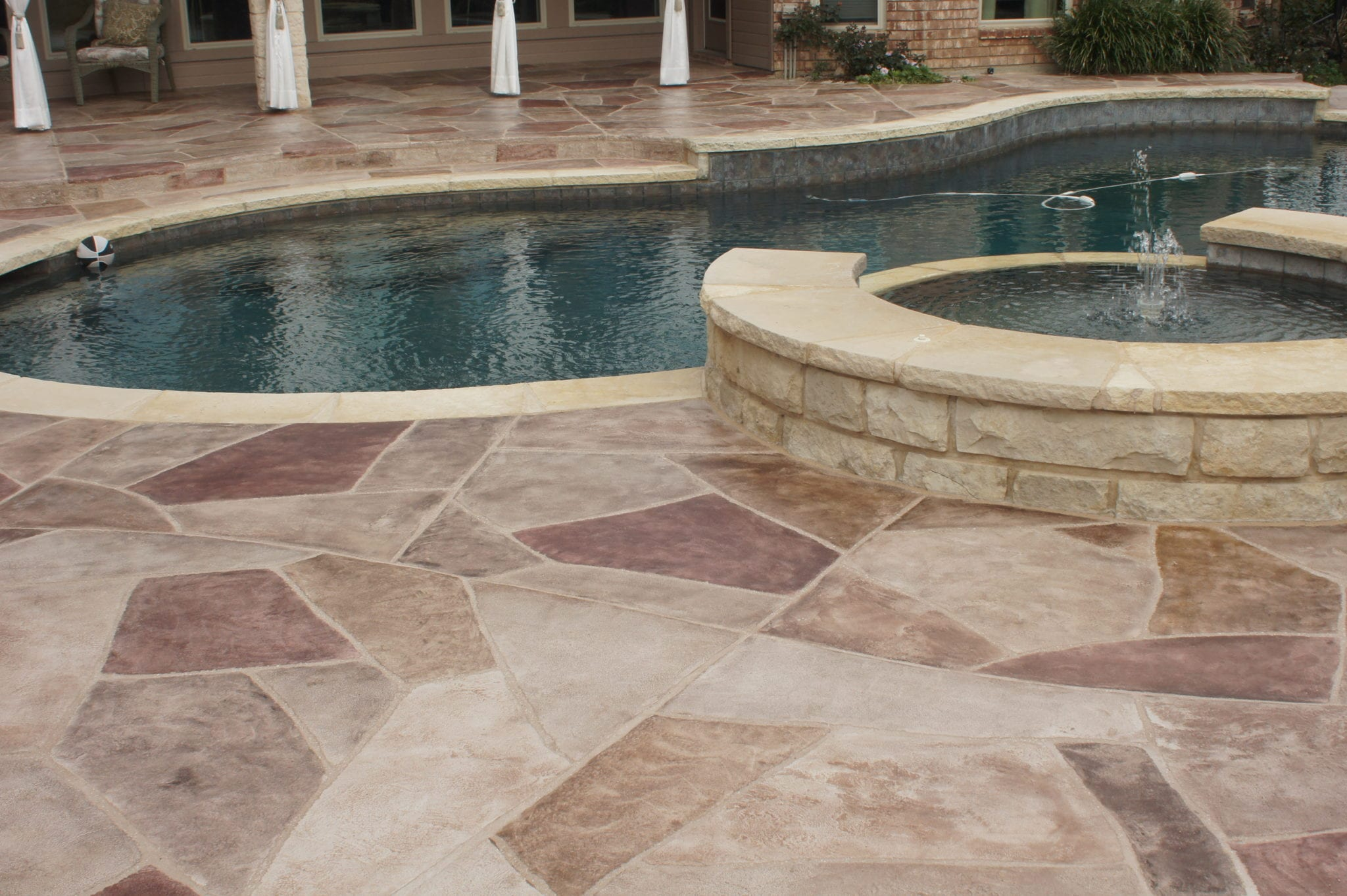 stone remodeling on pool deck