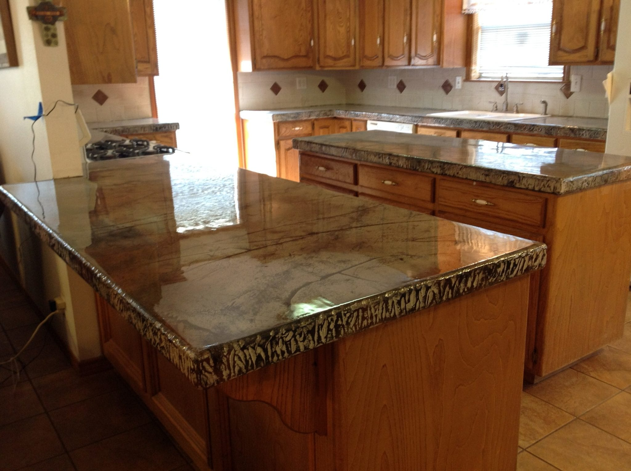 resurfaced tile countertops