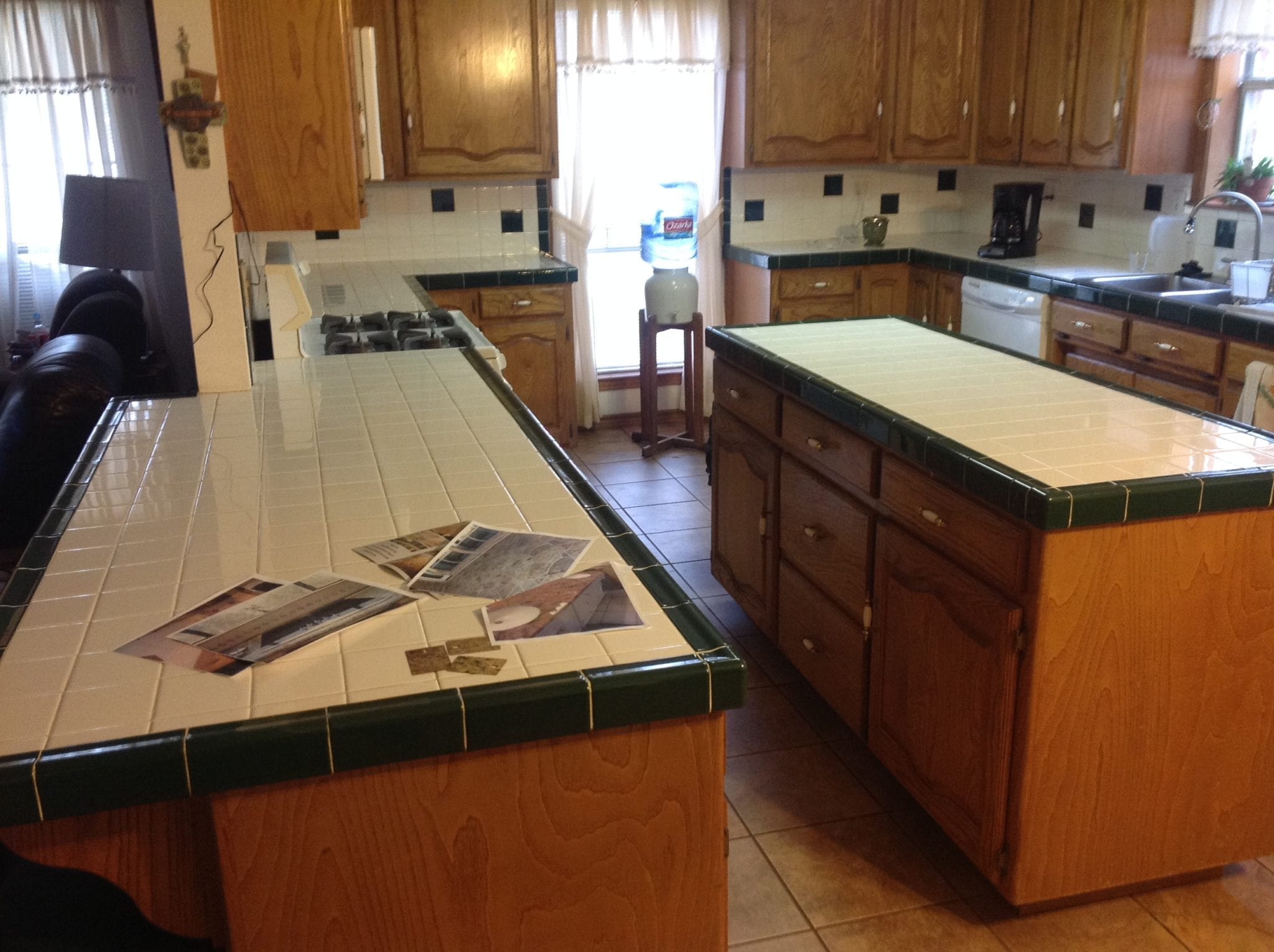 bland tile countertops
