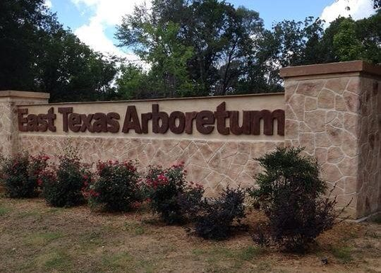 east texas arboretum sign resurfaced