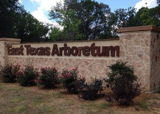 east texas arboretum sign resurfaced