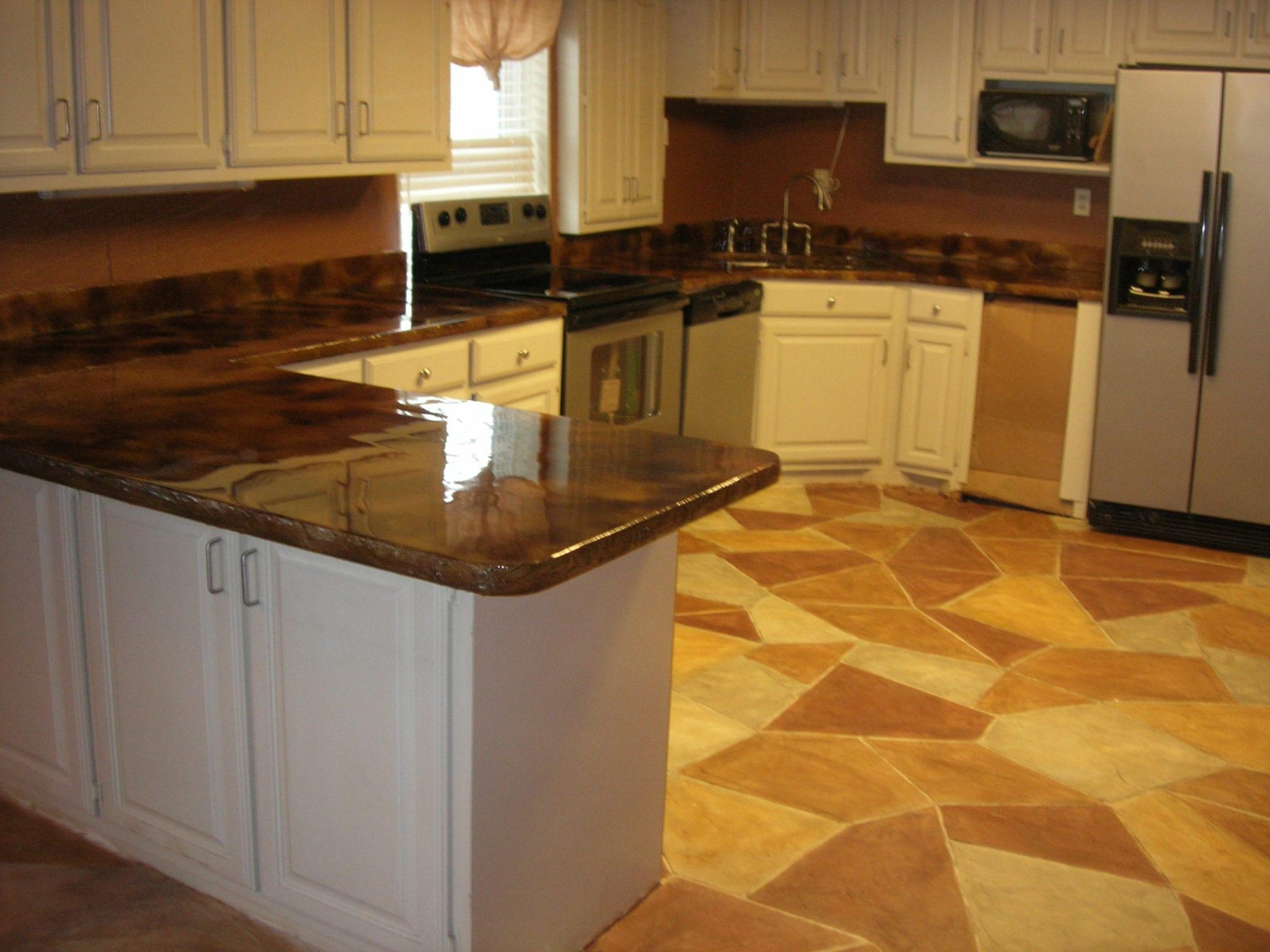 triangular stone floor pattern