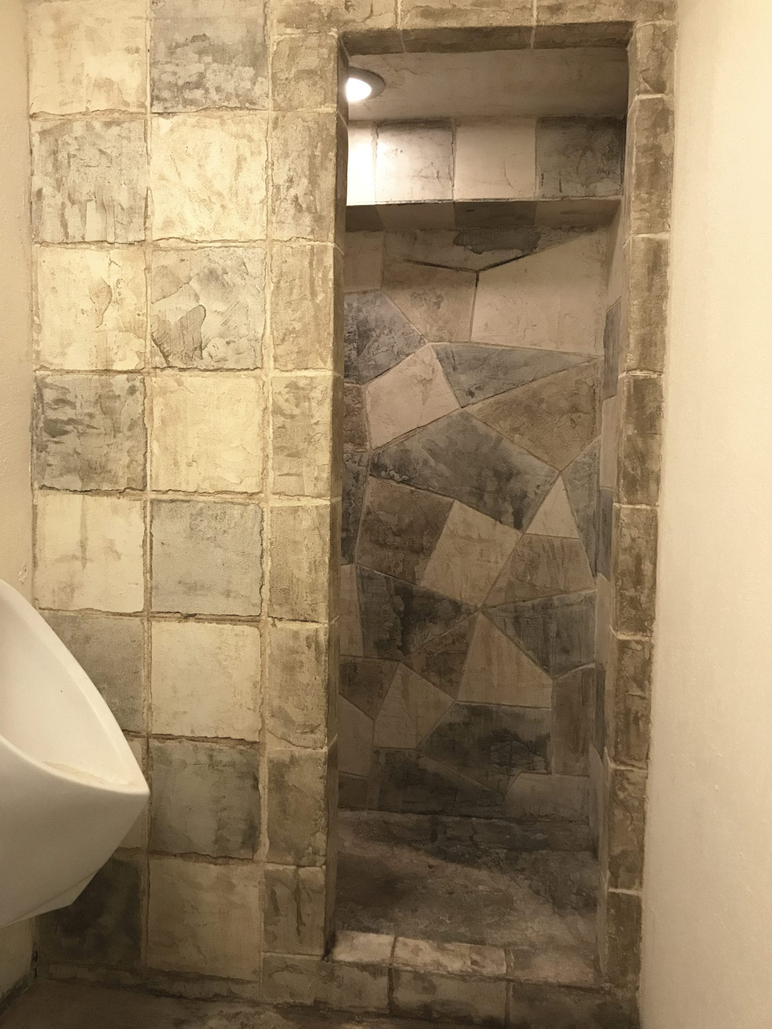 medieval looking stone gordonsville shower