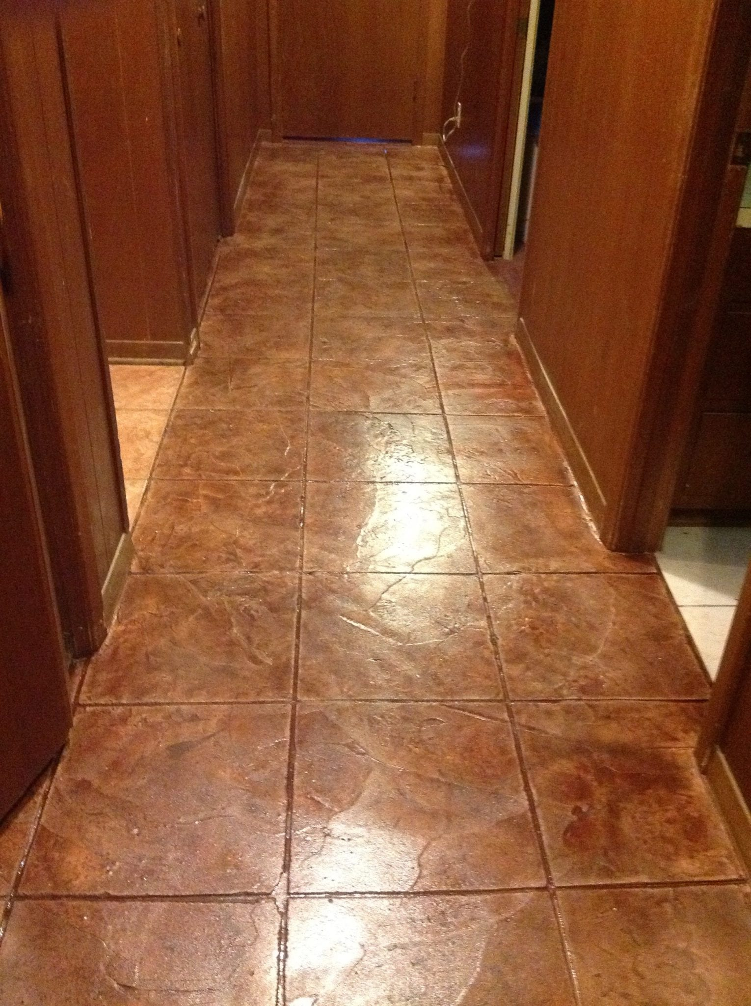 red square stone tile flooring