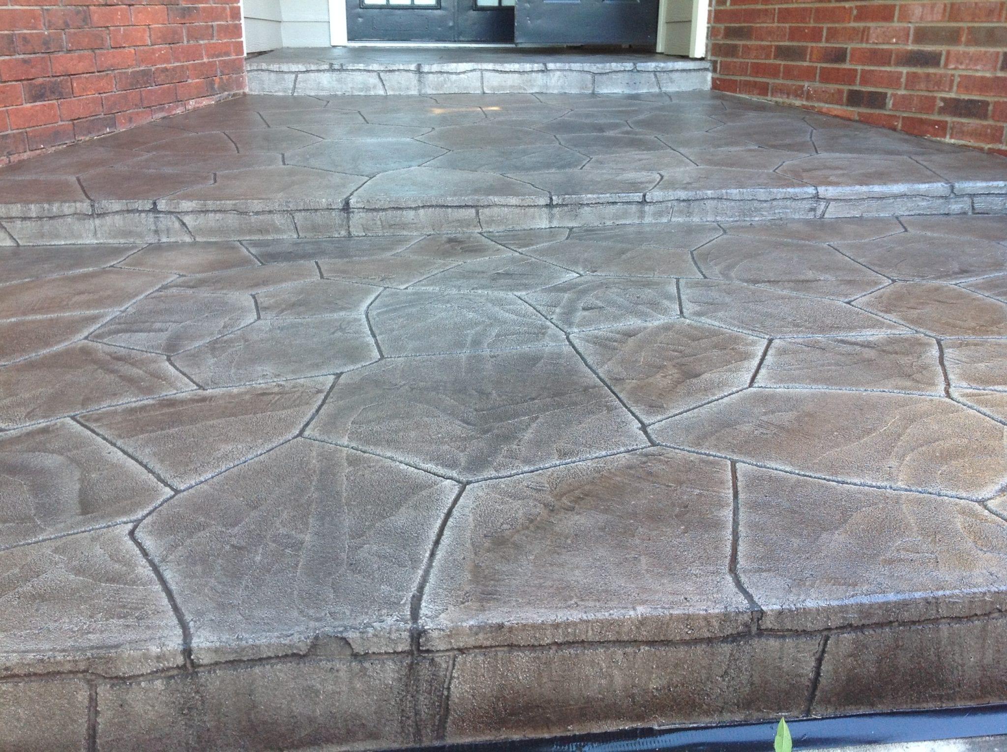 grey stone steps